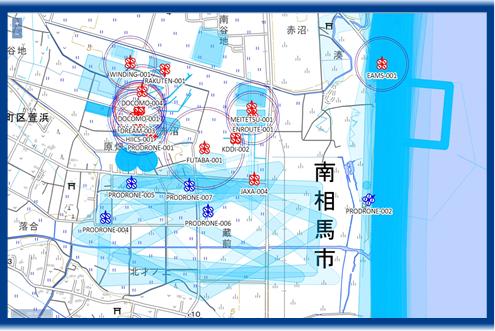 図4 飛行状況管理画面