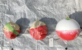 実験で使用した噴石模型