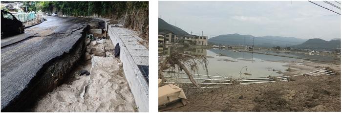平成30年7月豪雨による被害(JWA撮影)