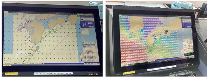 ・船上でのサービス画面例